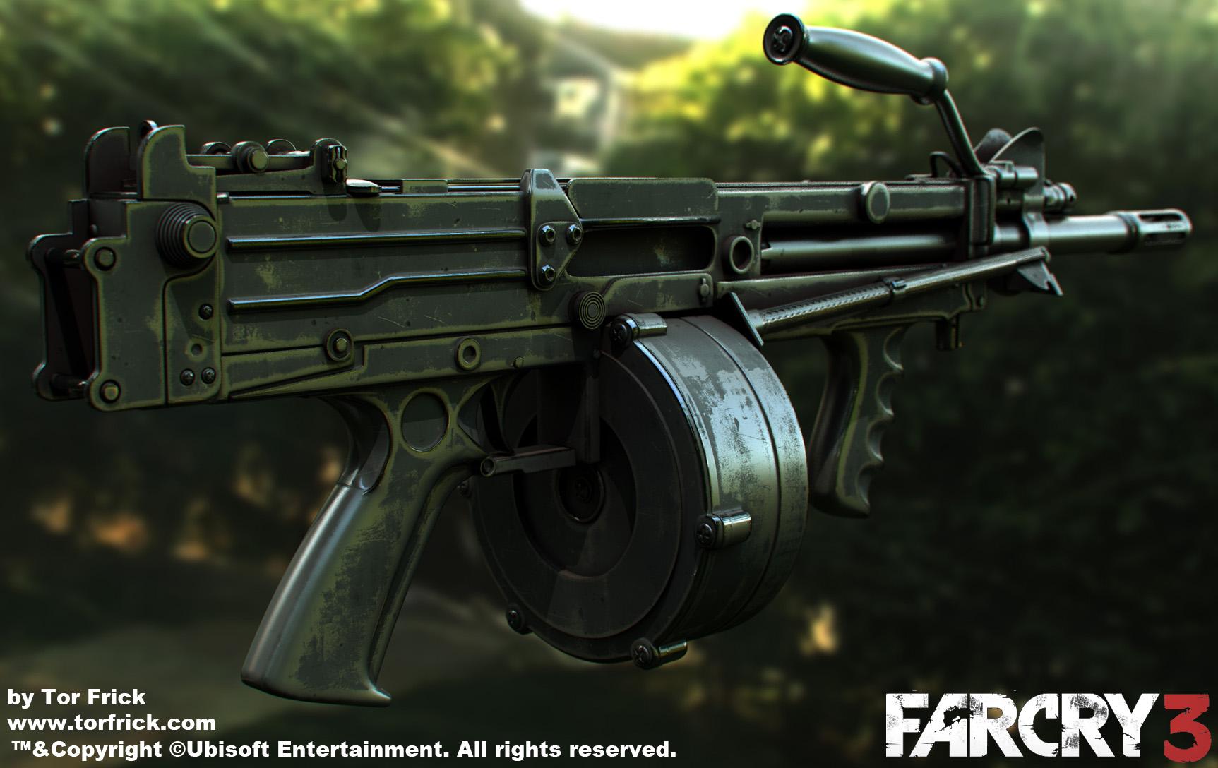 Far Cry 3 Guns Polycount